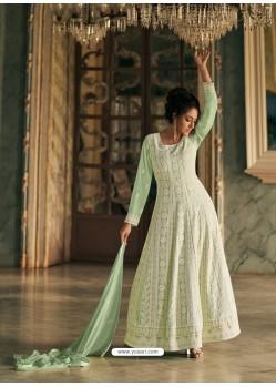 Sea Green Latest Designer Real Georgette Party Wear Anarkali Suit