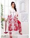Absorbing Georgette White Resham Work Salwar Suit