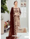 Light Beige Latest Heavy Designer Party Wear Pakistani Style Salwar Suit