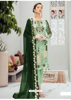 Sea Green Latest Heavy Designer Party Wear Pakistani Style Salwar Suit