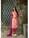 Pink Designer Party Wear Churidar Salwar Suit