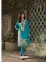 Blue Designer Party Wear Churidar Salwar Suit