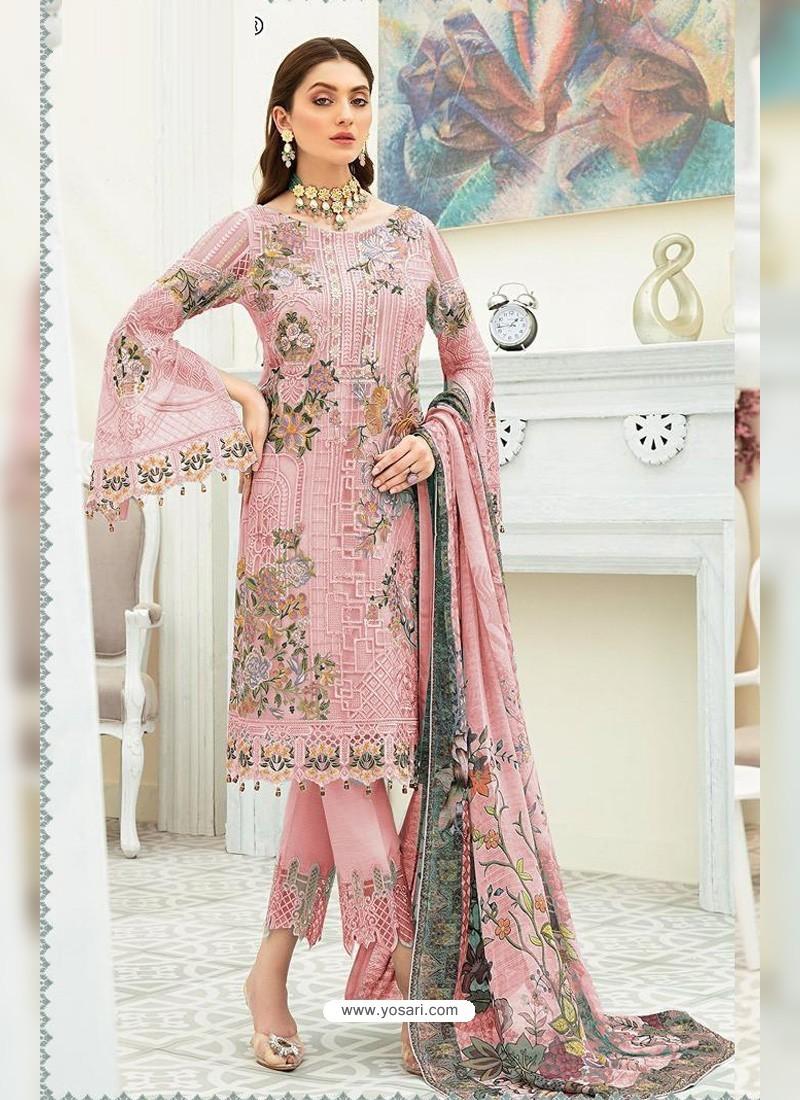 Dusty Pink Party Wear Designer Heavy Georgette Straight Salwar Suit