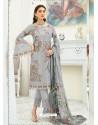 Light Grey Party Wear Designer Heavy Georgette Straight Salwar Suit