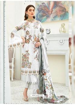 White Party Wear Designer Heavy Georgette Straight Salwar Suit
