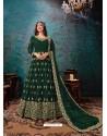 Dark Green Latest Designer Faux Georgette Party Wear Anarkali Suit