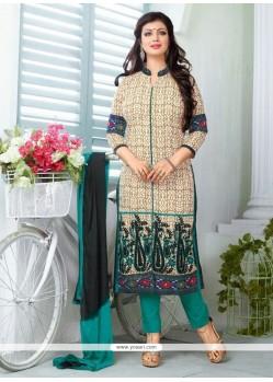 Ayesha Takia Beige Churidar Designer Suit