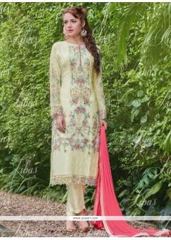 Modernistic Resham Work Georgette Designer Salwar Suit