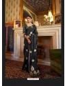 Black Sensational Designer Party Wear Satin Weaving Silk Sari