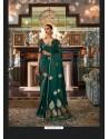 Dark Green Sensational Designer Party Wear Satin Weaving Silk Sari