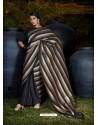 Black Gorgeous Designer Party Wear Silk Sari