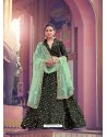 Sea Green And Black Gorgeous Heavy Designer Wedding Wear Lehenga Choli