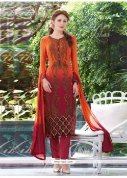 Nice Resham Work Salwar Suit