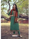 Teal Heavy Embroidered Designer Mini Silk Salwar Suit