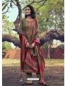 Mehendi Heavy Embroidered Designer Mini Silk Salwar Suit