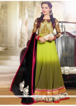 Celina Jaitly Green Georgette Anarkali Suit