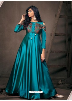 Blue Sensational Designer Party Wear Gown