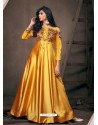 Yellow Sensational Designer Party Wear Gown