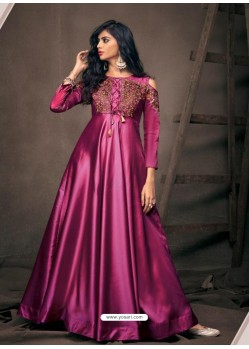 Magenta Sensational Designer Party Wear Gown