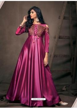 Magenta Sensational Designer Party Wear Gown