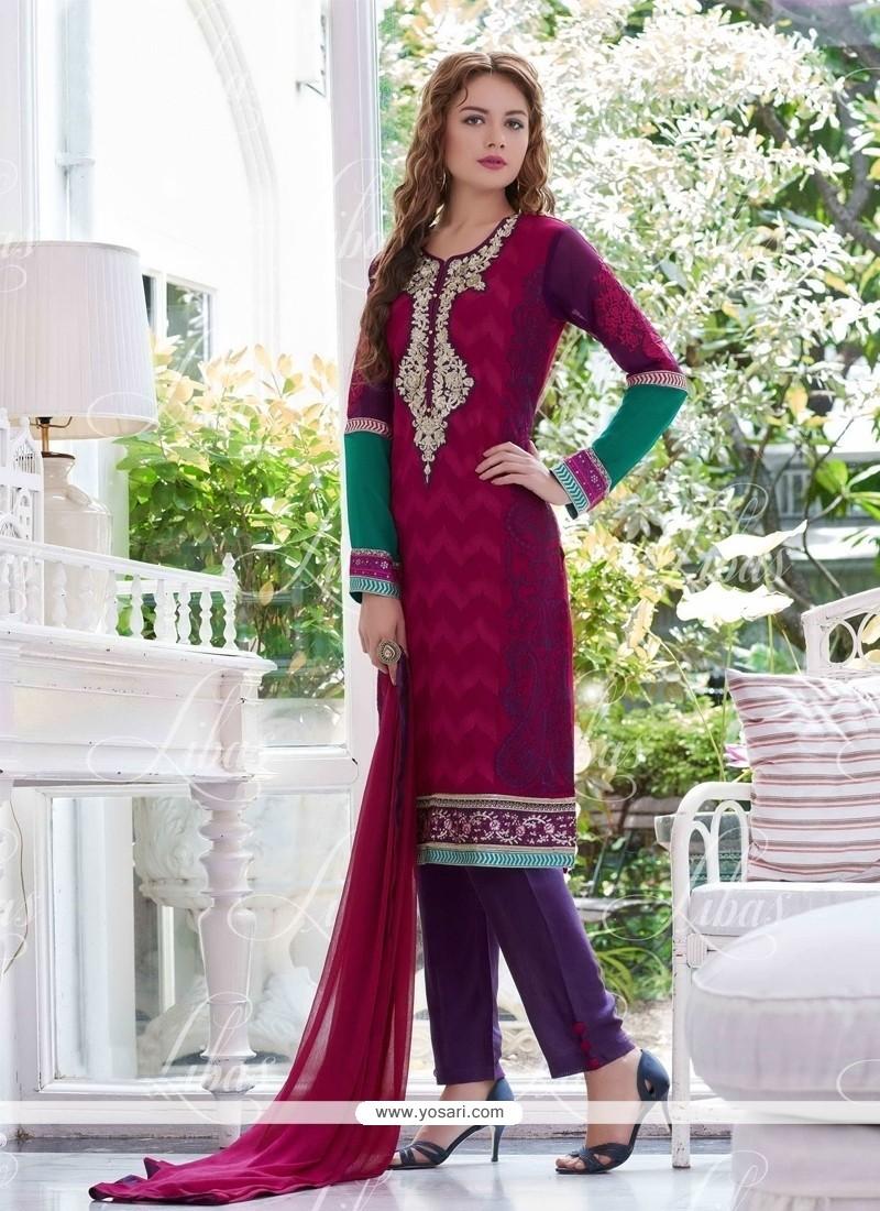 Distinctive Georgette Salwar Suit