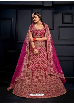 Rani Elegant Heavy Embroidered Designer Bridal Lehenga Choli