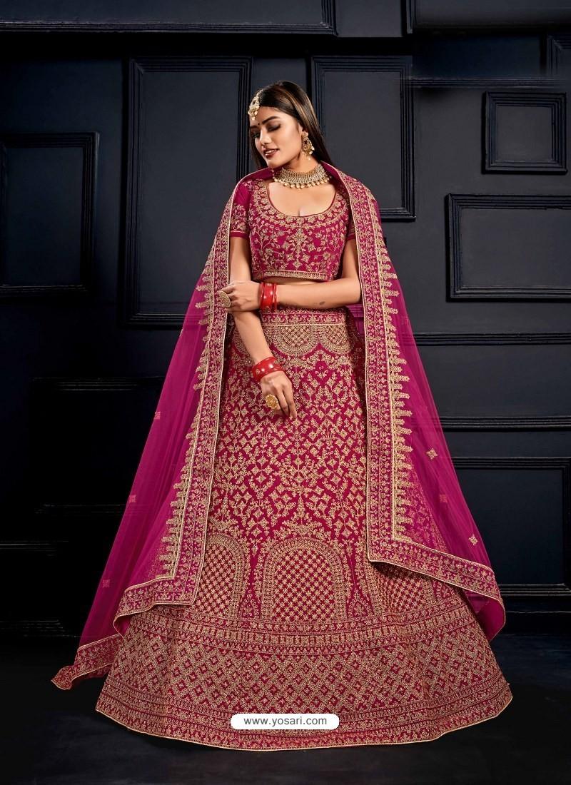 Rani Elegant Heavy Embroidered Designer Bridal Lehenga Choli