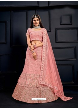 Baby Pink Elegant Heavy Embroidered Designer Bridal Lehenga Choli