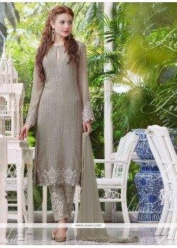Regal Beige Designer Salwar Suit