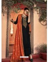Black Designer Embroidered Party Wear Palazzo Suit