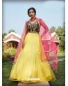 Light Yellow Radiant Heavy Embroidered Designer Party Wear Lehenga