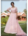 Baby Pink Radiant Heavy Embroidered Designer Party Wear Lehenga