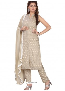 Taupe Stylish Readymade Party Wear Salwar Suit