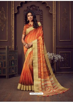 Multi Colour Designer Party Wear Handloom Silk Sari