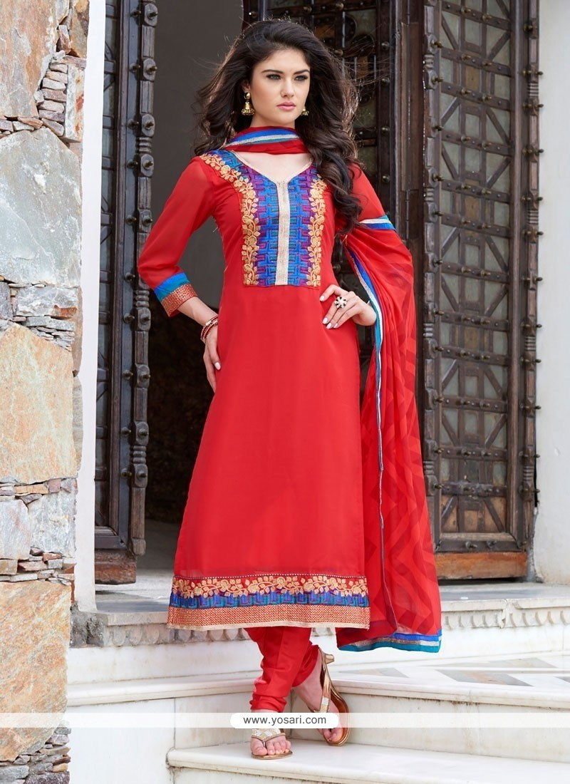 Vehemently Georgette Churidar Salwar Kameez