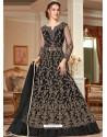 Black Stunning Heavy Designer Net Party Wear Anarkali Suit