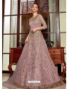 Dusty Pink Stunning Heavy Designer Net Party Wear Anarkali Suit