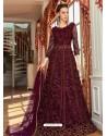 Purple Stunning Heavy Designer Net Party Wear Anarkali Suit