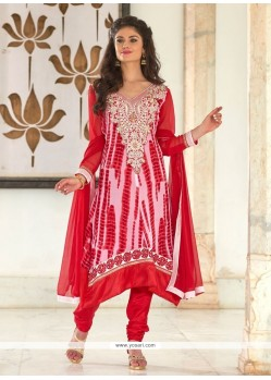 Zesty Red Churidar Salwar Kameez