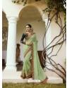 Green Mesmeric Designer Traditional Wear Silk Sari