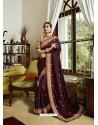 Maroon Mesmeric Designer Traditional Wear Silk Sari
