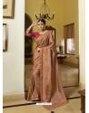 Beige Mesmeric Designer Traditional Wear Silk Sari