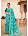 Turquoise Mesmeric Designer Classic Wear Silk Sari