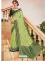 Green Mesmeric Designer Classic Wear Silk Sari