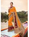 Orange Mesmeric Designer Classic Wear Silk Sari