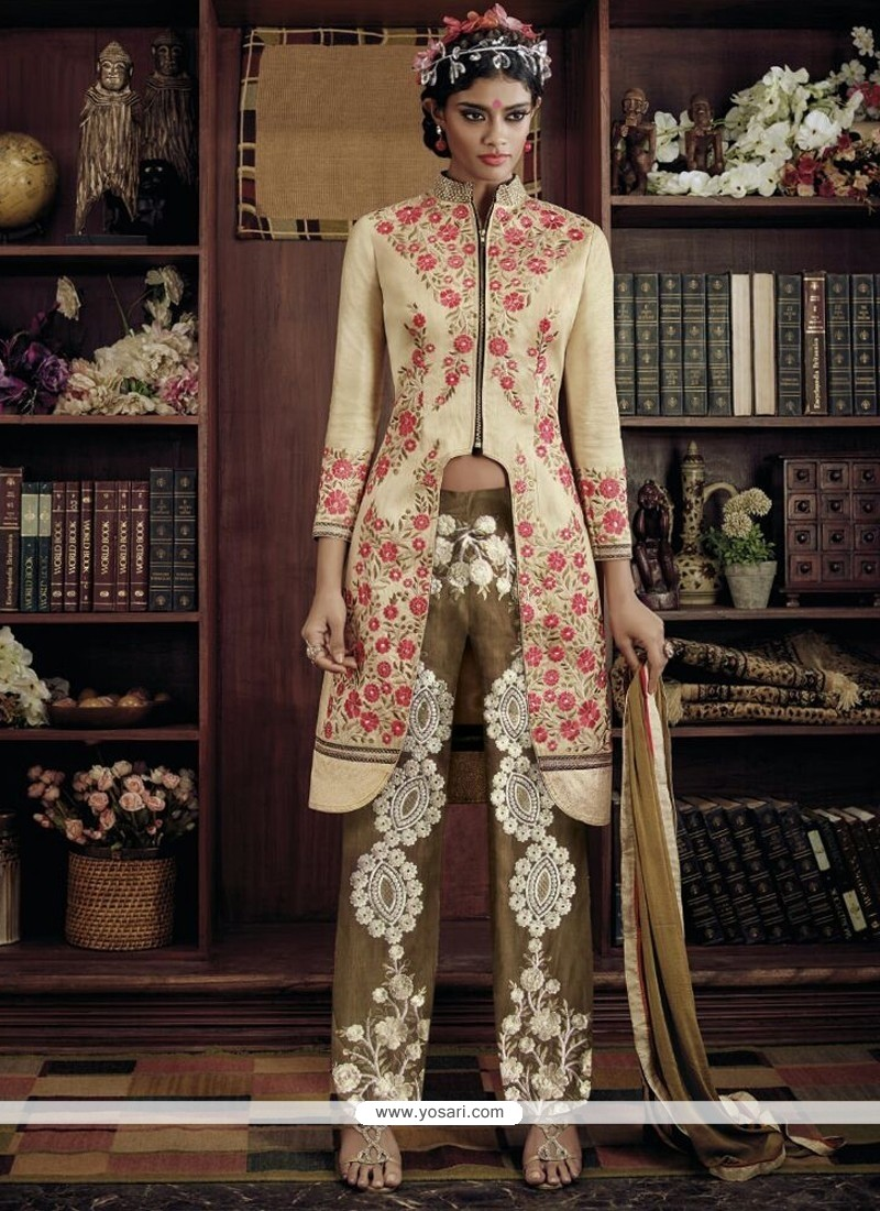 Conspicuous Embroidered Work Georgette Designer Suit