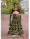 Forest Green Gorgeous Designer Heavy Wedding Wear Lehenga