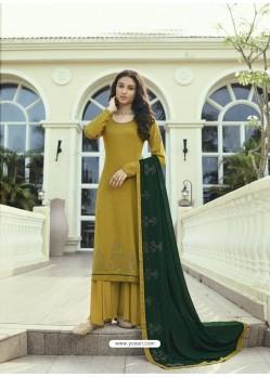 Mustard Designer Party Wear Soft Silk Salwar Suit