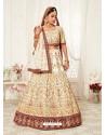 Off White Gorgeous Designer Heavy Wedding Wear Lehenga