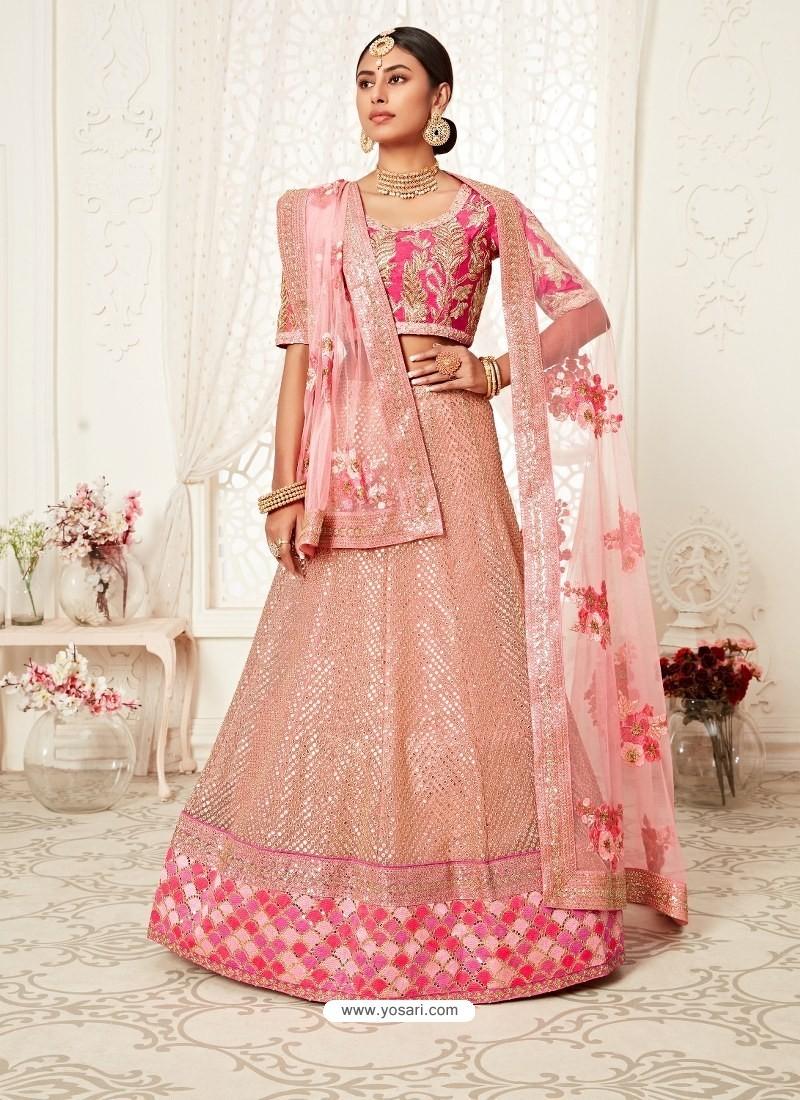 Baby Pink Gorgeous Designer Heavy Wedding Wear Lehenga
